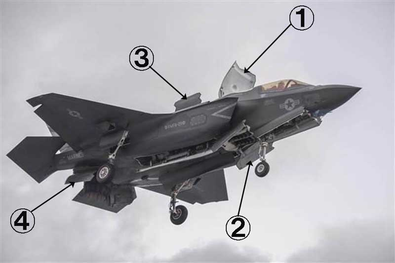F-35Bの着陸時の開く扉