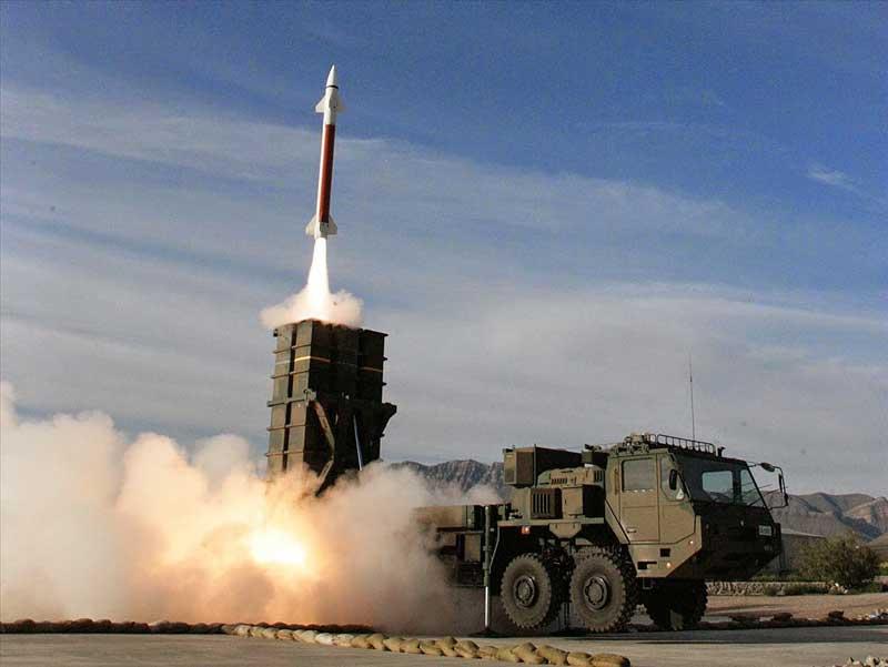 中SAMのミサイル発射瞬間