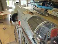 石川県航空プラザに展示してあるF-104Jのコックピットから後方