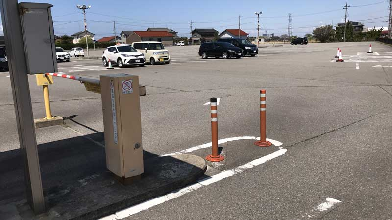 国際線第1駐車場の駐車状況