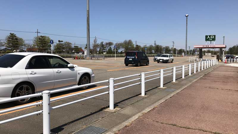 国内線第1駐車場の駐車状況