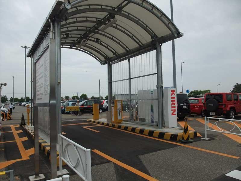 小松空港第2駐車場の増設入口ゲート